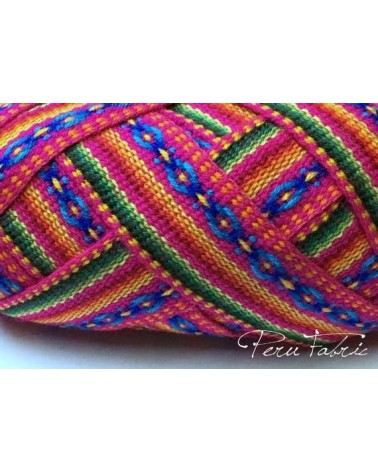 Fuchsia Double Stripe Fabric