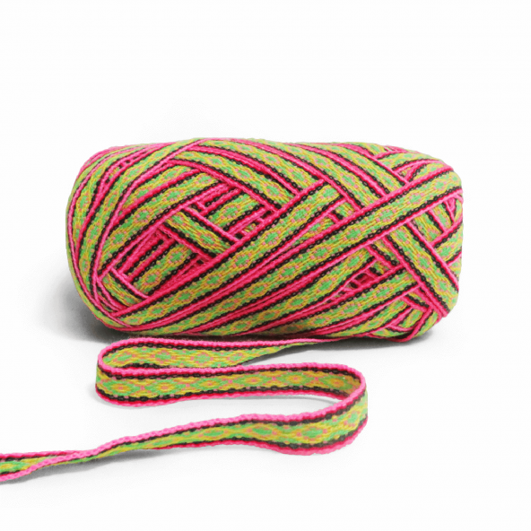 Vibrant and colorful inca ribbons